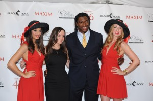 Washington Redskin quarterback Robert Lee Griffin III at Maxim Fillies and Stallions Derby Party