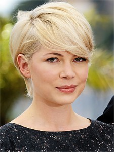 Michelle Williams version of the pixie shag